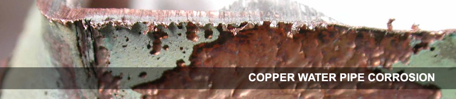 Copper water pipe corrosion